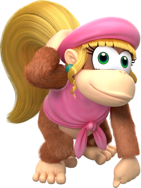 Dixie Kong Mario Kart Tour character