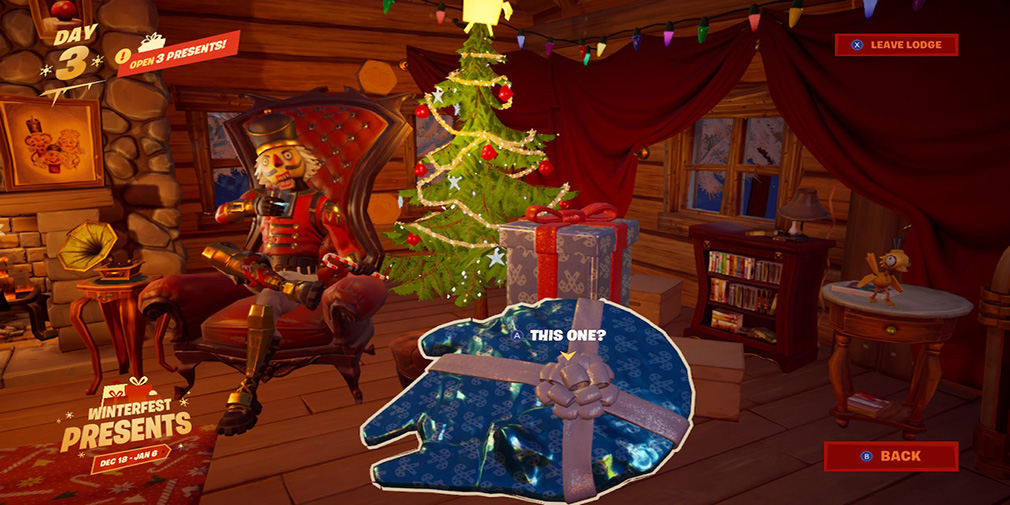 Fortnite cheats, tips - Get the Millennium Falcon glider and more in the Winterfest event FREE