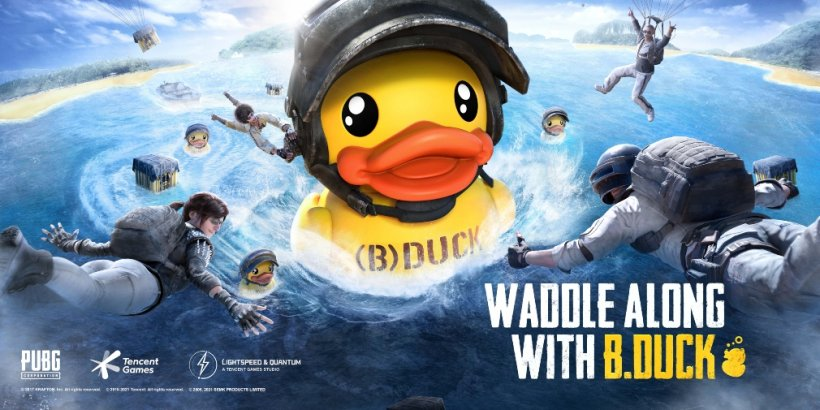 PUBG Mobile's latest crossover is with B.Duck and introduces a wonderfully silly outfit to the battle royale