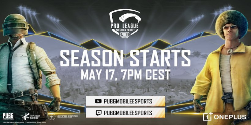 PUBG Mobile Pro League Western Europe begins on May 17th with a prize pool of 150,000 USD