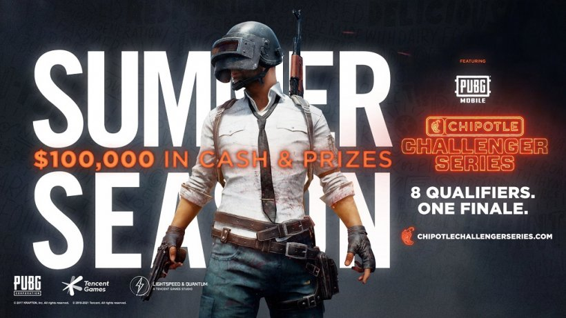 PUBG MOBILE partners with Chipotle for the Chipotle Challenger Series, July 2021