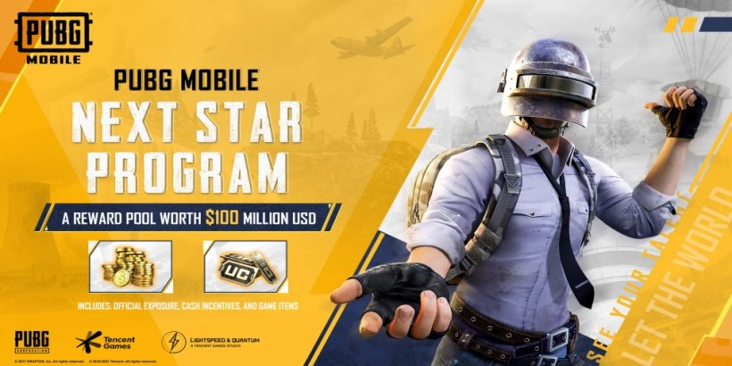 PUBG MOBILE launches the NEXT STAR PROGRAM for content creators, with a reward pool of $100 million