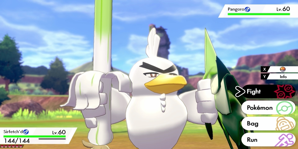 Pokemon Sword is exclusively getting an evolved form of Farfetch'd