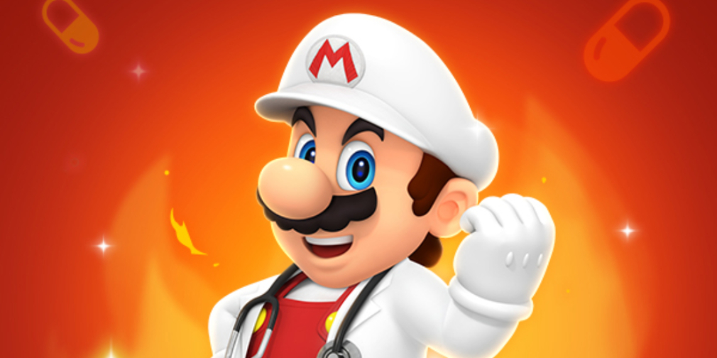 Dr. Mario World introduces Dr. Fire Mario and Dr. Fire Peach to its ever growing roster