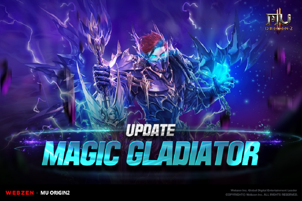 MU Origin 2's latest update introduces the new Magic Gladiator class to the popular MMORPG