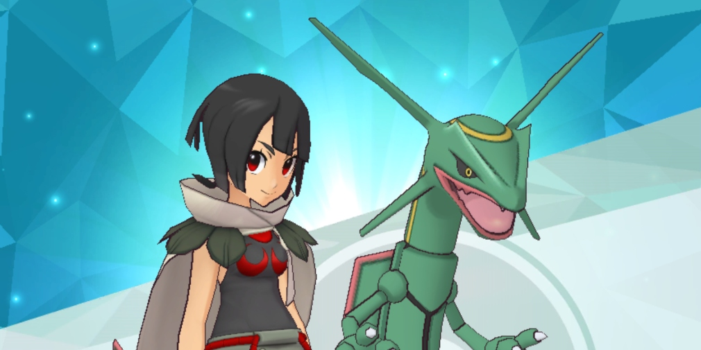 Pokemon Masters' latest legendary event sees Rayquaza arrive on Pasio alongside free gems and an Alolan Sync Pair