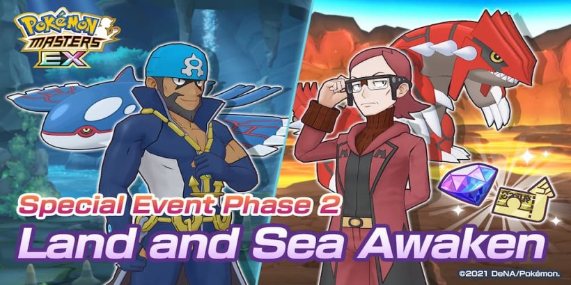 Pokémon Masters EX announces Special Event Phase 2: Land and Sea Awaken featuring, Legendary Pokémon Kyogre and Groudon