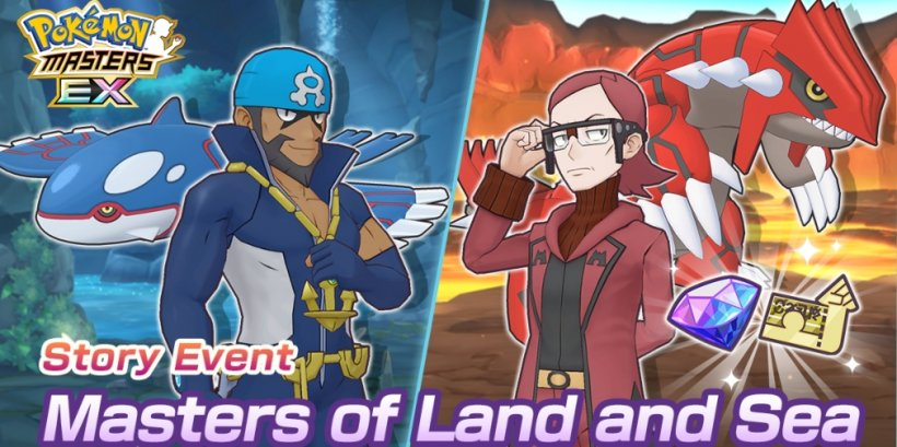 Pokemon Masters EX introduces Archie & Kyogre and Maxie & Groudon to its Sync Pair roster