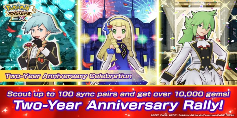 Pokemon Masters EX is celebrating its 2nd anniversary with over 100 Sync Pairs and up to 10,000 gems as free rewards
