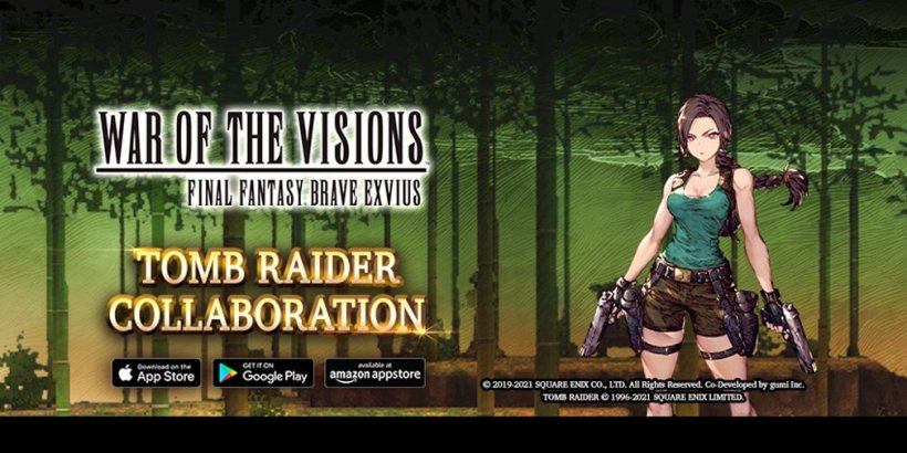 War of the Visions Final Fantasy Brave Exvius welcomes Lara Croft herself in Tomb Raider crossover event