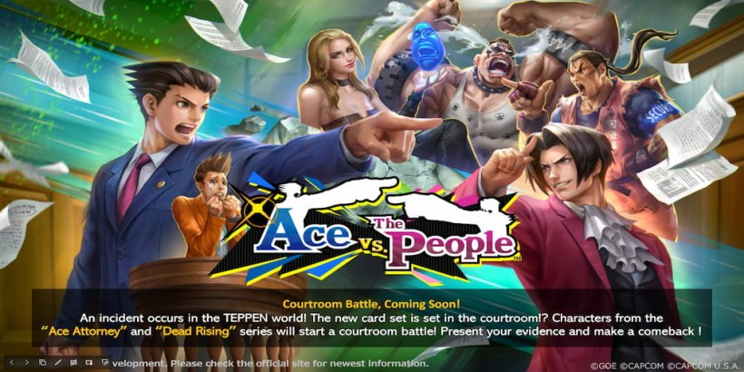 Teppen introduces characters from Ace Attorney and Dead Rising in its latest update