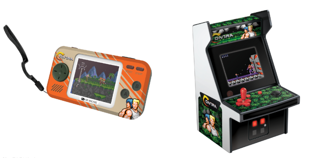 Konami's Contra handheld console and mini arcade cabinet will be launching this year