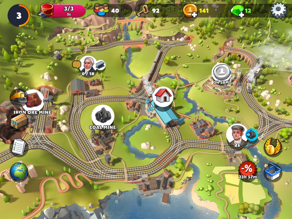 TrainStation 2: Railway Empire iOS Screenshot Overworld
