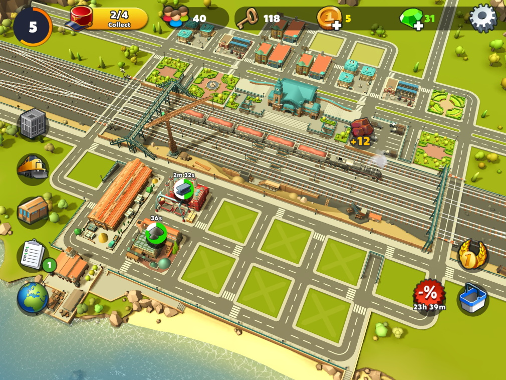 TrainStation 2: Railway Empire iOS Screenshot Station and City