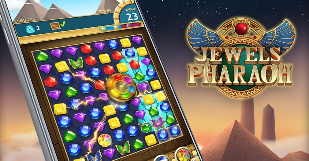 Striking match-3 puzzler Jewels Pharaoh lets you become the wealthiest Pharaoh in history
