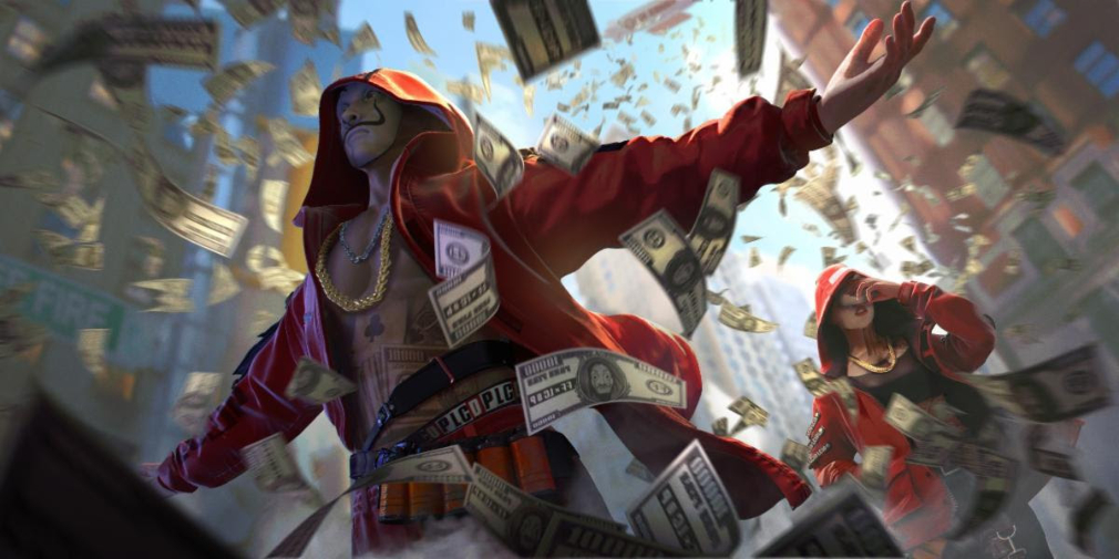 Garena Free Fire's crossover with Netflix series Money Heist will begin its Peak Day event tomorrow