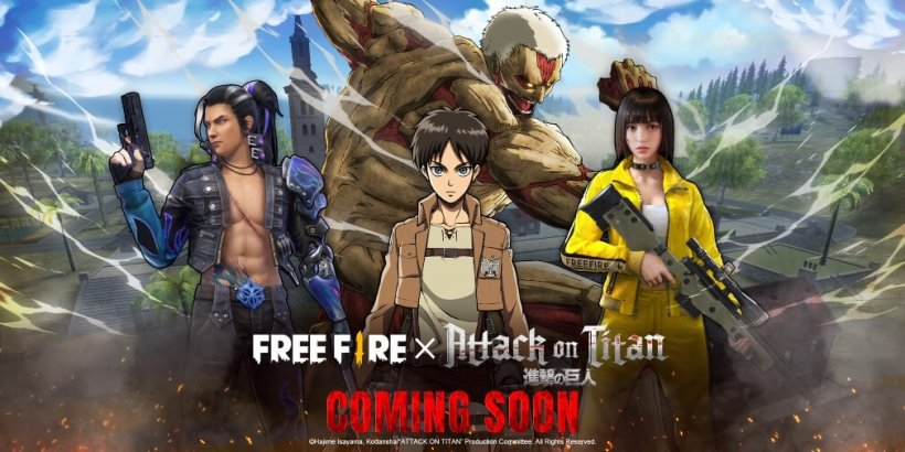 Garena Free Fire's next collaborative event will be a crossover with the popular anime series Attack on Titan