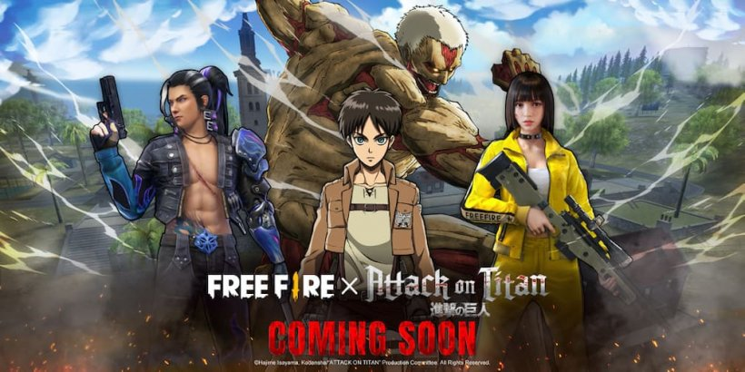 Free Fire partners with popular anime Attack on Titan for a crossover event