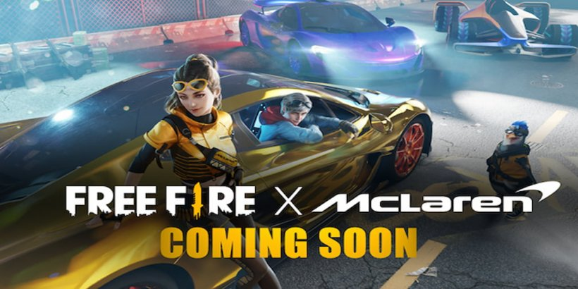 Free Fire partners with McLaren for a crossover event, featuring McLaren's signature cars