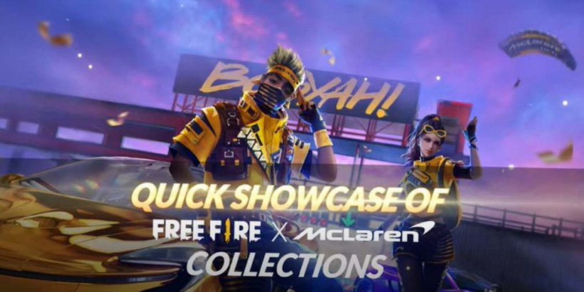 Free Fire x McLaren collab features a thematic takeover of the hit battle royale game