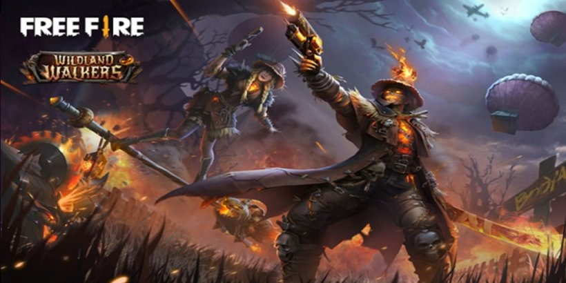 Free Fire's new Wildland Walkers Elite Pass features fiery scarecrows