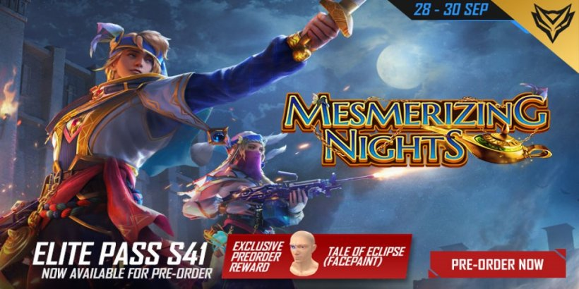 Free Fire has launched the new Mesmerizing Nights Elite Pass