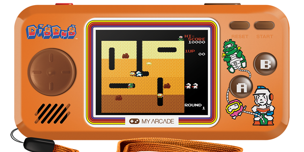 Check out these Bubble Bobble, Dig Dug, Rolling Thunder handheld consoles and mini arcade cabinets