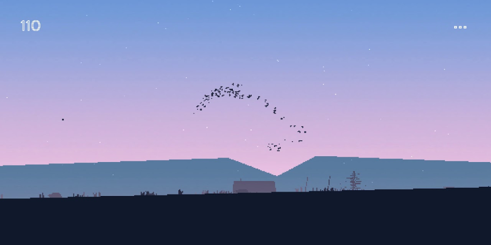 Flocc is a calming, meditative game about controlling a flock of birds