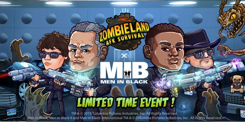 Zombieland: AFK Survival lets you fight off alien scum in its latest Men In Black collaboration event