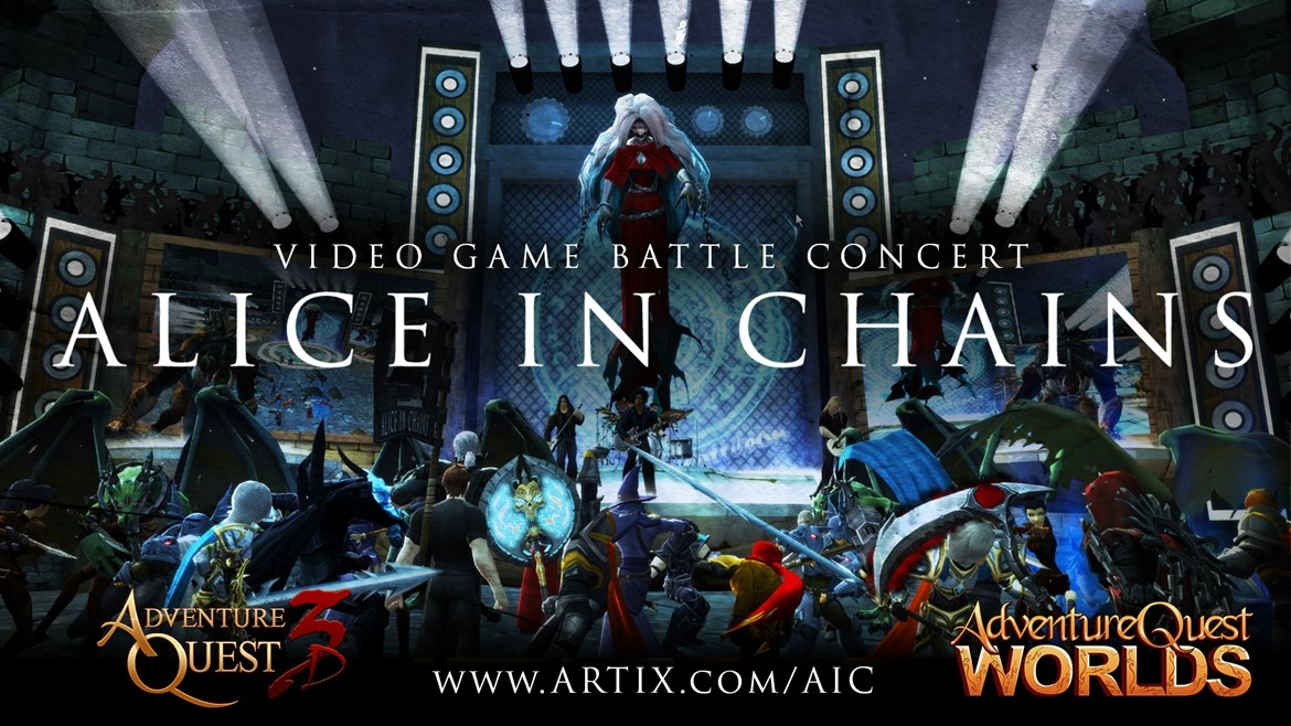 AdventureQuest 3D is hosting another in-game gig, this time with Alice In Chains