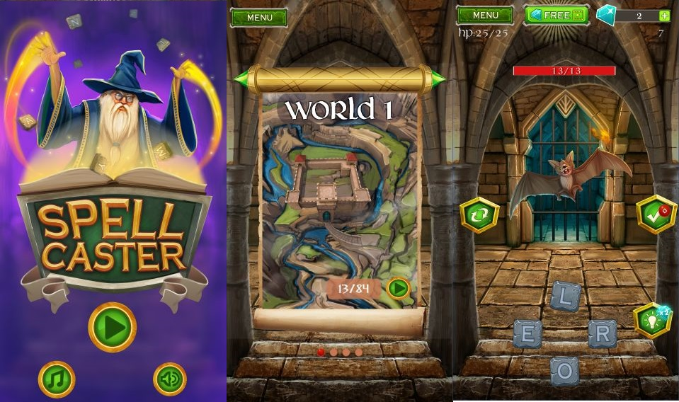 Spell Caster is a fantasy themed word searching puzzler and