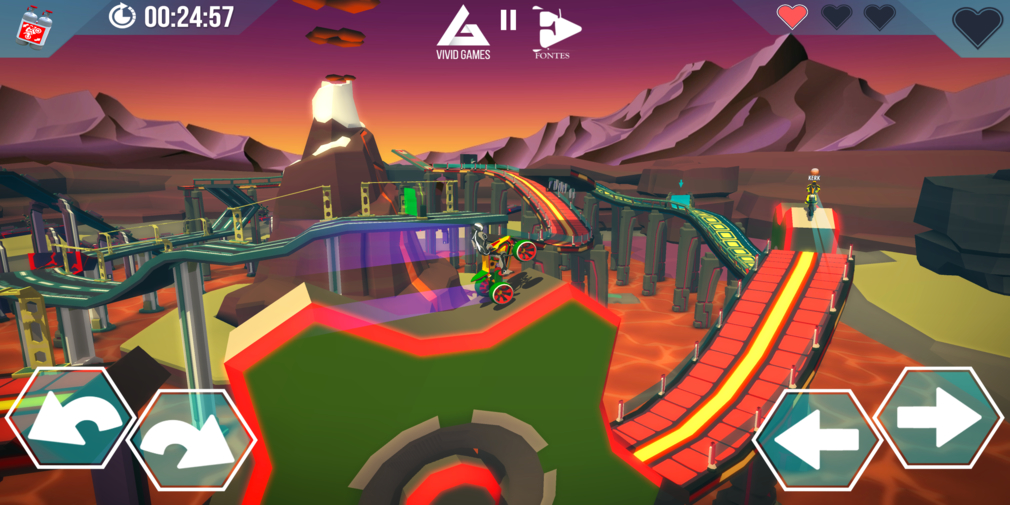 Gravity Rider ZERO is a physics-based motorbiking game that's available now on iOS and Android