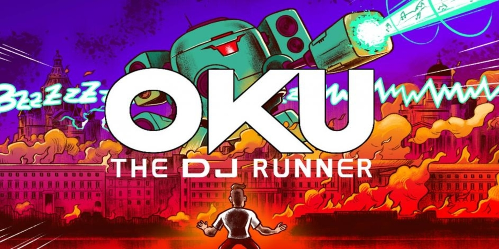 Oku Game - DJ Runner is a runner that's inspired by the 90s and Eurodance music