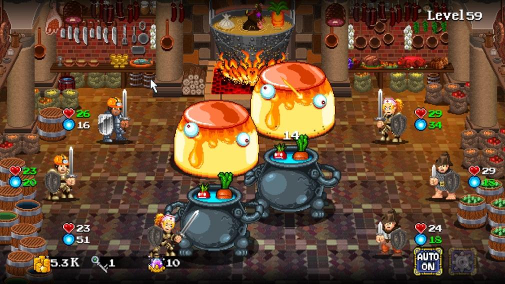 Des aventuriers qui carburent au Coca vous attendent dans le RPG Soda Dungeon 2, disponible sur mobiles