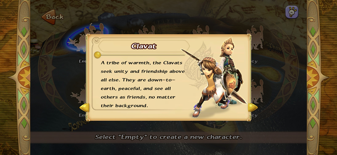 Выбор расы и сделки в Final Fantasy: Crystal Chronicles Remastered