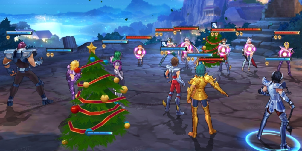 Saint Seiya Awakening: Knights of the Zodiac's Christmas update introduces Surplice Shion and a new PvE game mode