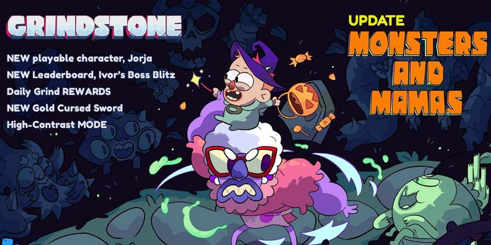 Grindstone adds a new character and Boss Blitz daily challenge mode in Monsters and Mamas update