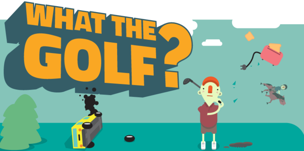 What the Golf? is a silly physics-based golf parody for Apple Arcade