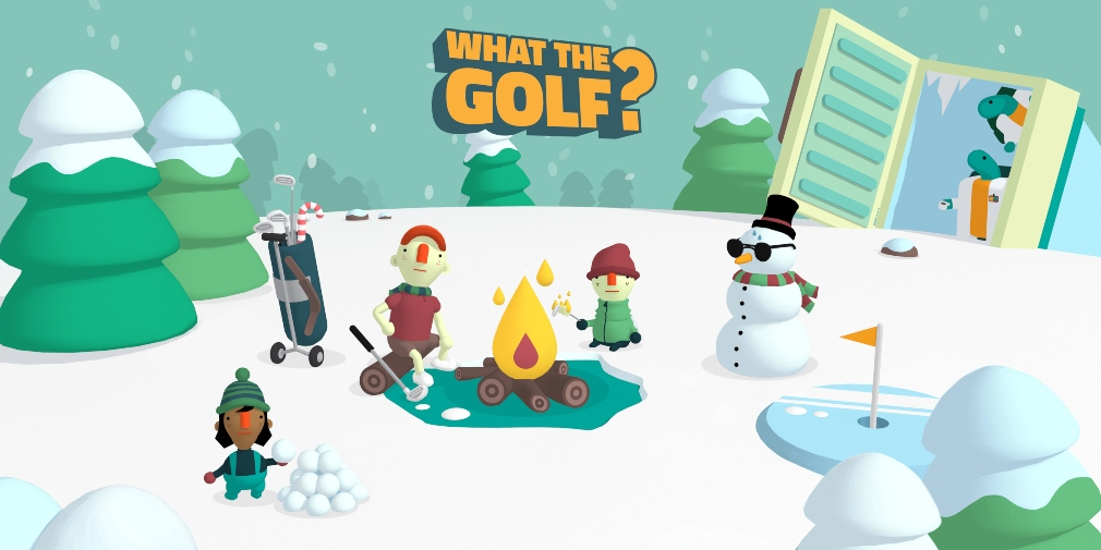 What the Golf?'s latest update introduces a host of winter-themed levels to the popular Apple Arcade title