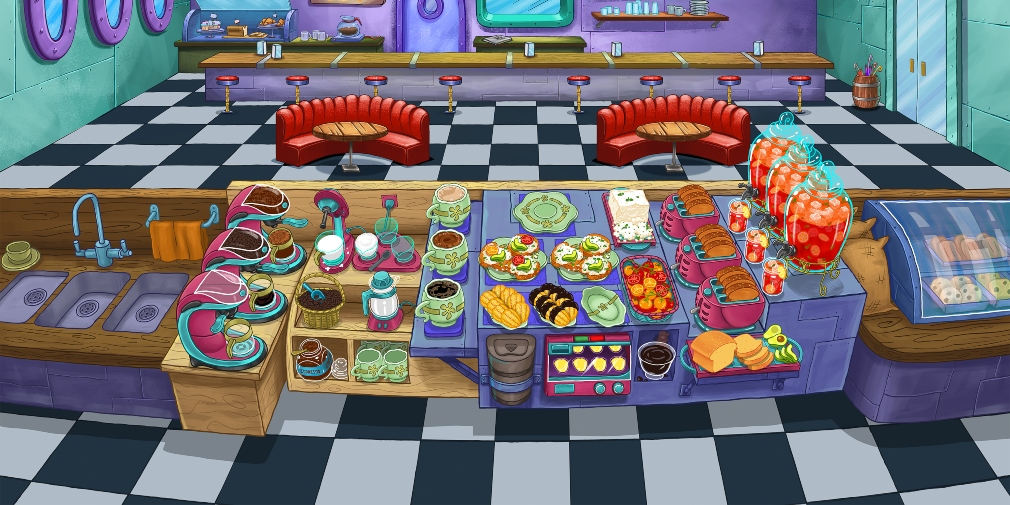 SpongeBob: Krusty Cook-Off's latest update introduces the Last Chance Coffee restaurant and New Kelp City