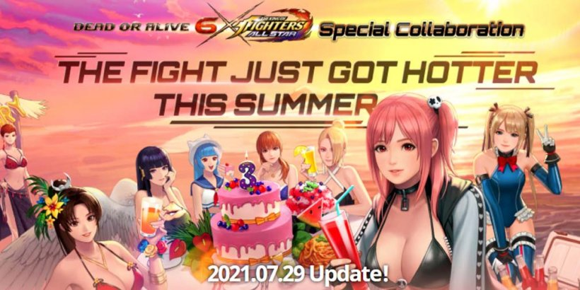 THE KING OF FIGHTERS ALLSTAR collaborates with Dead or Alive on July 29th, with pre-registration now open