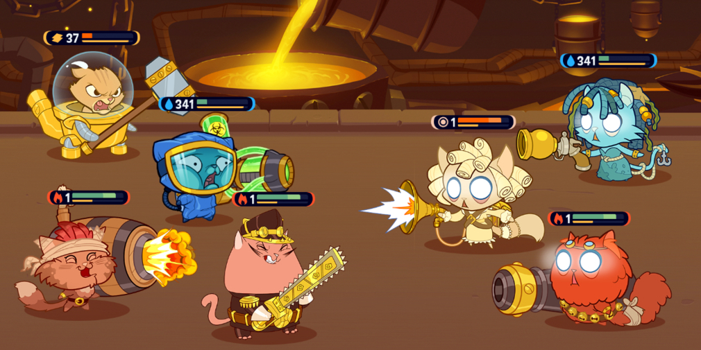 AFK Cats: Idle Arena, a steampunk themed, feline-centric idle RPG is available now for iOS