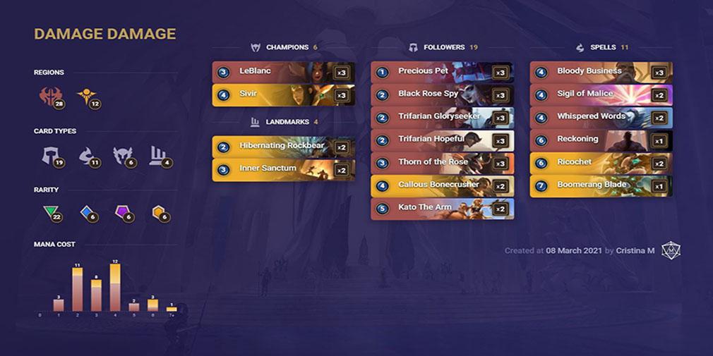 legends of runeterra decks - damage