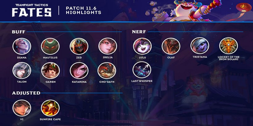 TFT patch notes 11.6