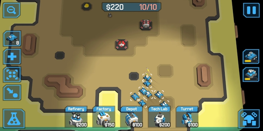 zCube is a new RTS for iOS and Android where you battle across the faces of a cube