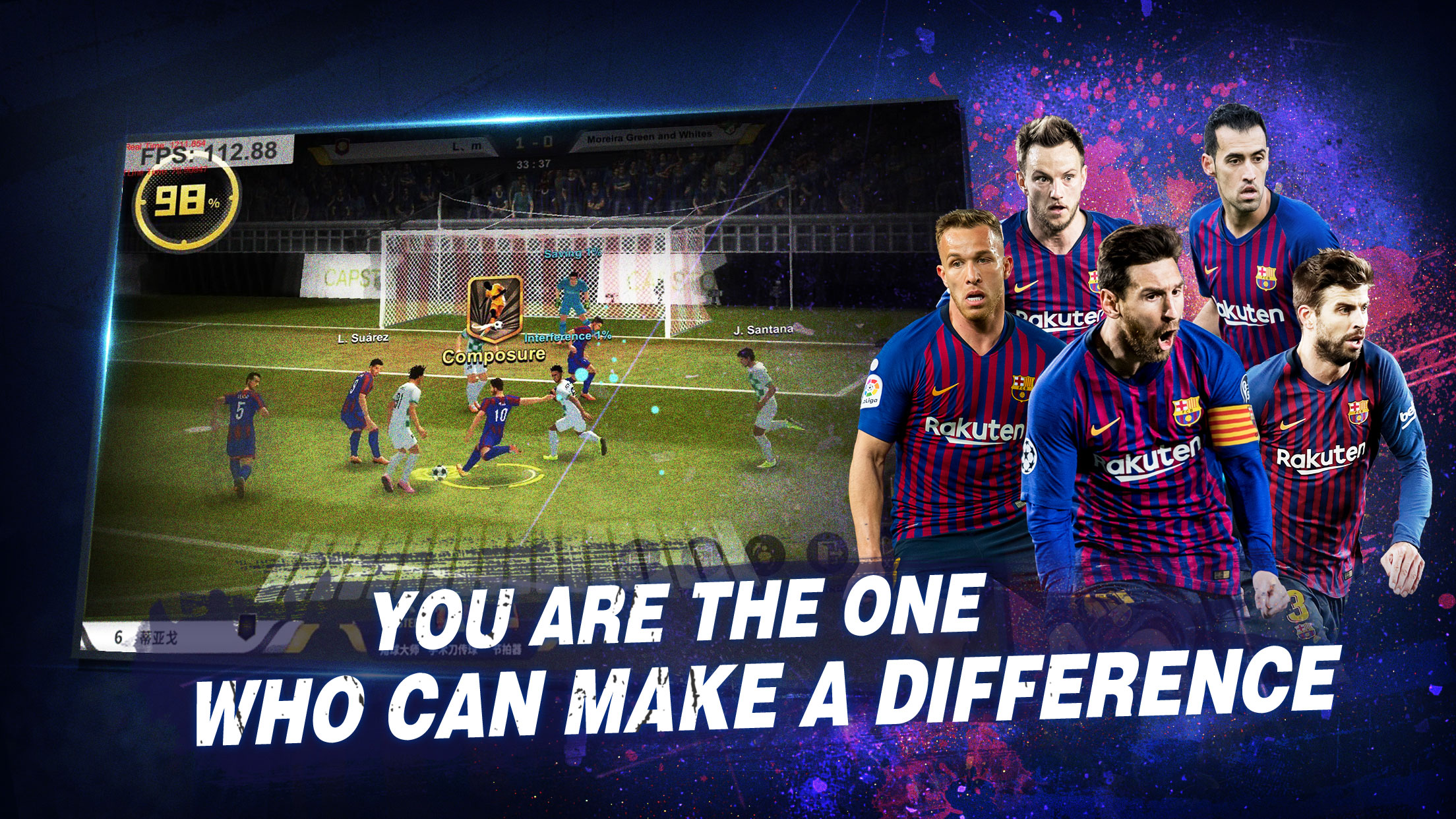 Champions Manager Mobasaka offers authentic Football management simulation with partnerships with FC Barcelona.