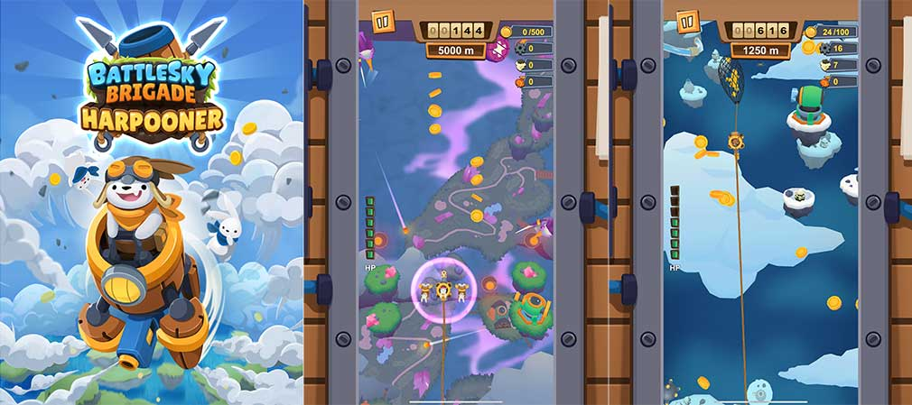 Vertical shoot 'em up BattleSky Brigade: Harpooner is out now on Apple Arcade