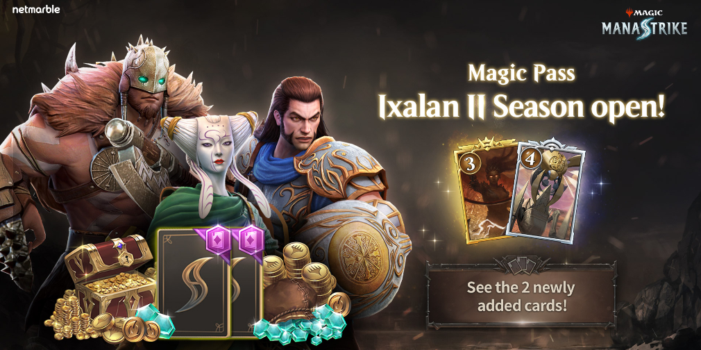 Ixalan Season II arrives in Magic: ManaStrike, adding fresh Magic Pass rewards and new unit cards