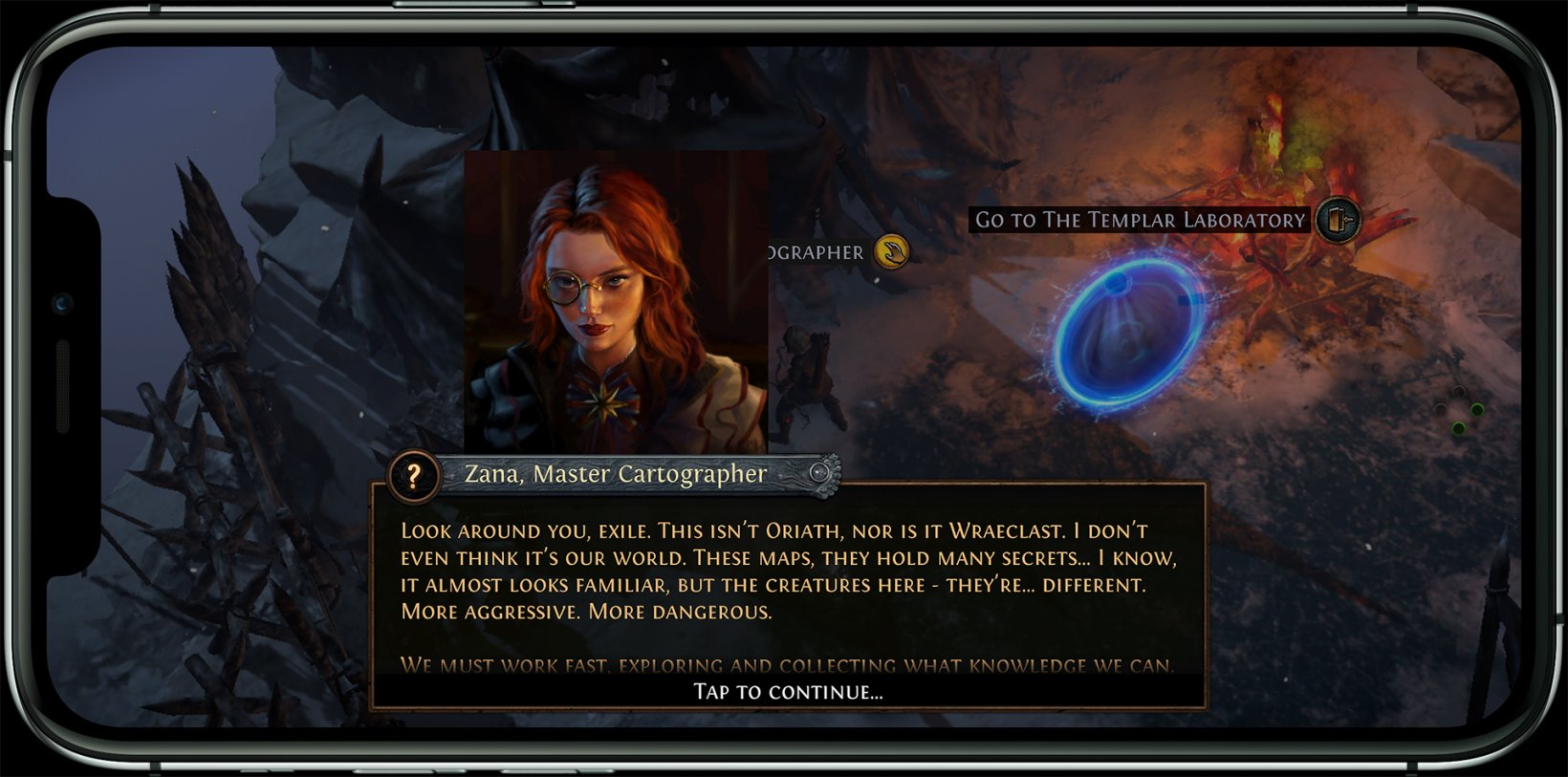 Path of Exile Mobile dialogue