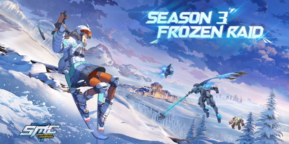Super Mecha Champions' third season 'Frozen Raid' introduces new skins and a deadly winter theme